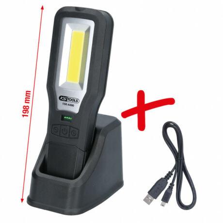 Mobil kézilámpa műhelyekbe, összehajtható, 550 lumen
