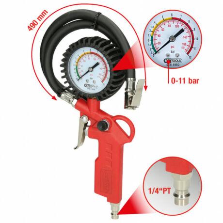 Sűrített levegős abroncstöltésmérő, 0-11bar
